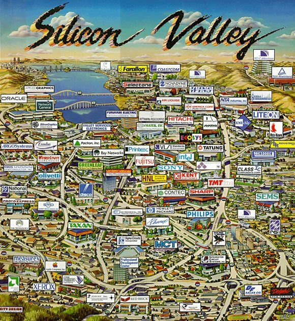 Silicon Valley Industrial Infographic